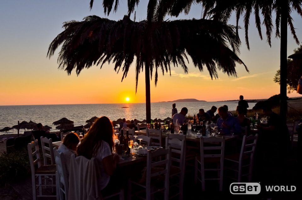 Eset – Beach + sea + dinner
